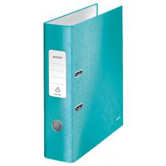 Ordner Leitz 180° WOW karton A4 80mm ijsblauw metallic (1005051)