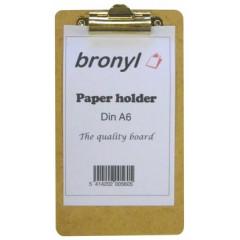 Klemplaat Bronyl hout A6 naturel