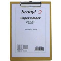 Klemplaat Bronyl hout A4 naturel