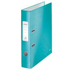 Ordner Leitz 180° WOW karton A4 50mm ijsblauw metallic (1006051)