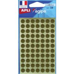 Etiketten Apli Ø 8mm goud (308)