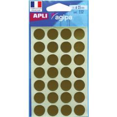 Etiketten Apli Ø 15mm goud (112)