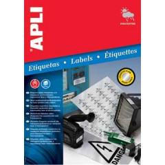 Etiketten Apli Polyester waterbestendig 48 etik/bl 45,7x21,2mm zilver (20)