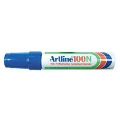 Marker Artline 100 permanent schuine punt 7,5-12mm blauw