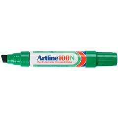 Marker Artline 100 permanent schuine punt 7,5-12mm groen