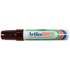 Marker Artline 100 permanent schuine punt 7,5-12mm zwart