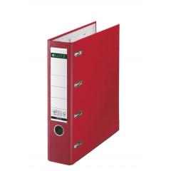 Bankordner Leitz PP A4 80mm dubbel mechanisme rood
