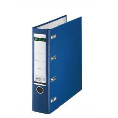 Bankordner Leitz PP A4 80mm dubbel mechanisme blauw