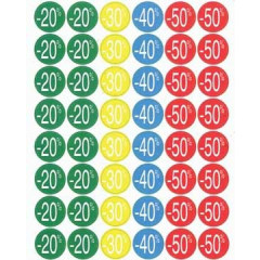 Kortinglabel Apli permanent -20% tot -50% assorti (240)