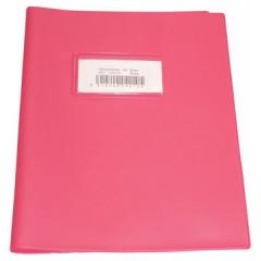 Schriftomslag Bronyl PVC 16,5x21cm 350 micron met venster en dubbelzijdig bedrukt etiket roze