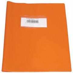 Schriftomslag Bronyl PVC 16,5x21cm 350 micron met venster en dubbelzijdig bedrukt etiket oranje