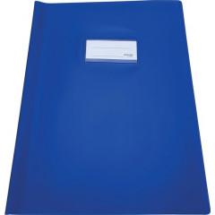 Schriftomslag Bronyl PVC A4 350 micron met venster en dubbelzijdig bedrukt etiket donkerblauw