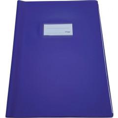 Schriftomslag Bronyl PVC A4 350 micron met venster en dubbelzijdig bedrukt etiket paars