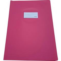 Schriftomslag Bronyl PVC A4 350 micron met venster en dubbelzijdig bedrukt etiket roze