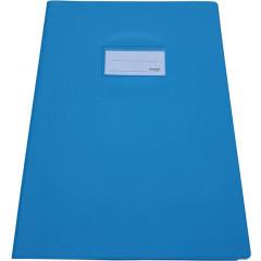 Schriftomslag Bronyl PVC A4 350 micron met venster en dubbelzijdig bedrukt etiket lichtblauw