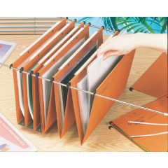 Hangmap Esselte Orgarex Dual Uniscope karton folio 365mm V-bodem lade oranje (50)(1025200)