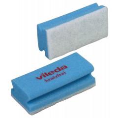 Schuurspons Vileda glitzi sterk wit/blauw (10)