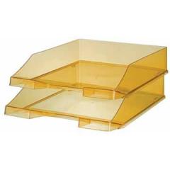 Brievenbak Han C4 transparant geel