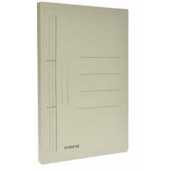 Hechtmap met glijder Classex folio 25x34,7cm karton grijs