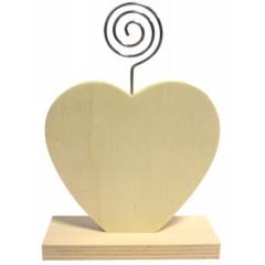 Fotohouder Graine Créative hartvormig hout