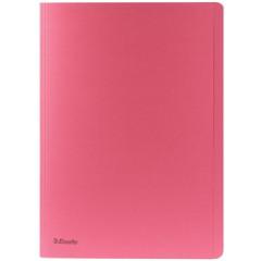 Dossiermap Esselte Manilla A4 met overslag 275gr roze (100)
