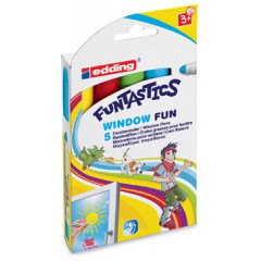 Marker Edding 16 Funtastics Window Fun ronde punt 2-6mm assorti (5)