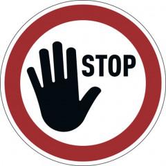 "Vloermarkering Durable sticker Ø430mm ""stop"" verwijderbaar rood"
