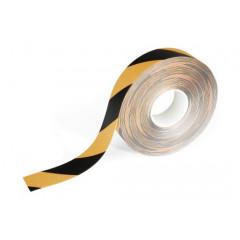 Vloermarkering Durable Duraline sticker 50mmx15m verwijderbaar geel/zwart