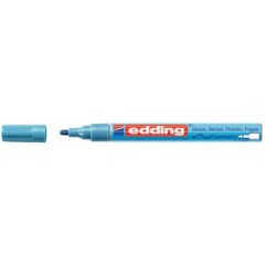Marker Edding E-751 CR Glanslak ronde punt 1-2mm lichtblauw metallic