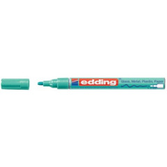 Marker Edding E-751 CR Glanslak ronde punt 1-2mm groen metallic