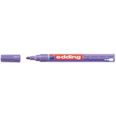 Marker Edding E-751 CR Glanslak ronde punt 1-2mm paars metallic