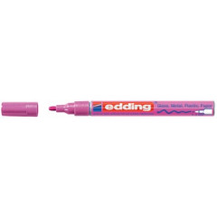 Marker Edding E-751 CR Glanslak ronde punt 1-2mm roze metallic