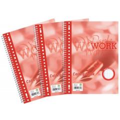 Spiraalschrift Work collegeblok A4+ geruit met microperforatie 160blz