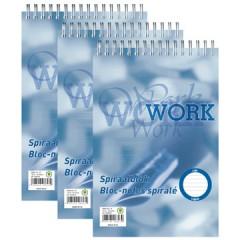 Schrijfblok Work spiraal A5 gelijnd 100 vel 70gr