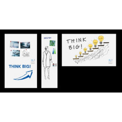 Whiteboard Legamaster Wall-Up 200x59,5cm