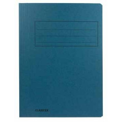 Map 3-kleppen Classex folio 300gr blauw