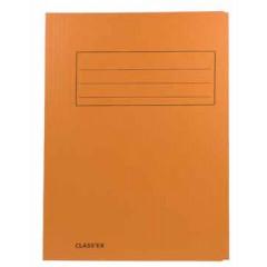 Map 3-kleppen Classex folio 300gr oranje