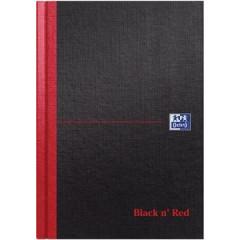Schrift Oxford Black n' Red hard karton A5 gelijnd 192blz