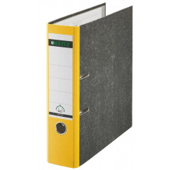 Ordner Leitz 180° karton A4 75mm geel