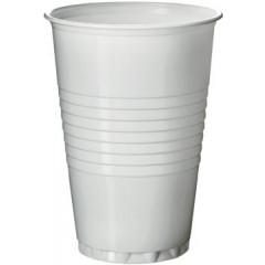 Automaatbeker uit polystyreen voor warme dranken 200ml wit (100)