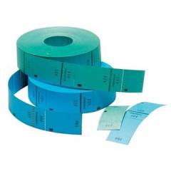 Ticketrol 65x30mm met controlestrookje 1-1000 blauw