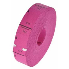 Ticketrol 65x30mm met controlestrookje 1-1000 roze
