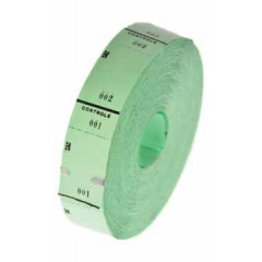 Ticketrol 65x30mm met controlestrookje 1-1000 groen