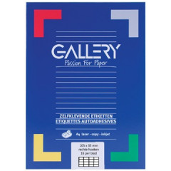 Etiketten Gallery 16 etik/bl 105x35mm (100)