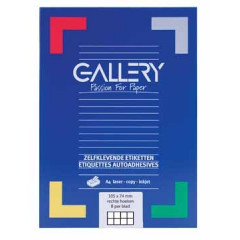 Etiketten Gallery 8 etik/bl 104x74mm (100)