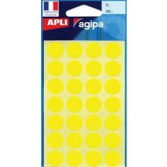 Etiketten Apli Ø 15mm geel (168)