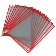 Tassen voor zichtpanelensysteem Tarifold T-display rood (10)