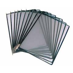 Tassen voor zichtpanelensysteem Tarifold T-display zwart (10)