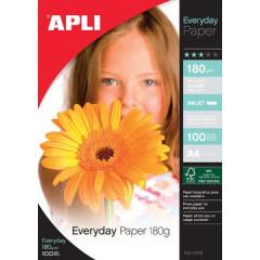 Fotopapier Apli everyday A4 180gr inkjet (100)