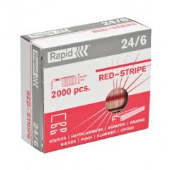 Nietjes Rapid Strong Redstripe 24/6 koper (2000)(51122)